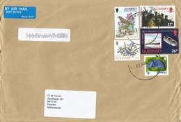 Guernsey 2016 Eurasian Rock Pipit (Anthus Petrosus) Bird Flower Space Flight Cover - Guernsey
