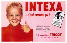 Buvard (4)  Tricots Intexa - Blotters