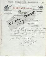 13 - Bouches-du-rhône - AIX-EN-PROVENCE - Facture JOURDAN - Forge - Charronnage - Carrosserie - 1910- REF 51B - 1900 – 1949