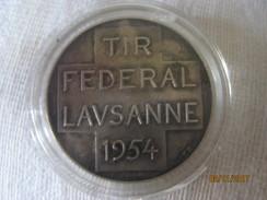 Suisse: Médaille Tir Fédéral, Lausanne 1954 - Tokens & Medals