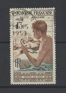 POLYNESIE . YT PA 1 Obl Graveur Sur Nacre 1958 - Poste Aérienne