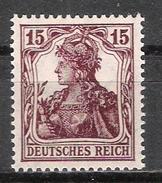 """Reich Variété Du N° 101 Neuf ** Michel 142a Signalé """"a"""" Au Dos - Allemagne"""