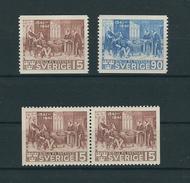 Schweden MiNr. 281 A / 282 A Und Paar 281 Dl/Dr  ** Postfrisch - Nuovi