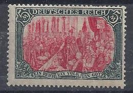 Germany 1915-19  Kaiserreichts  5m (*) MH  Mi.97 B II - Germany