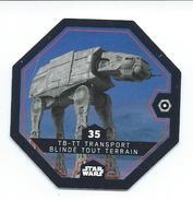 JU 35 (3) - JETON STAR WARS - Collection LECLERC 2016 - N°35 - TB-TT-TRANSPORT BLINDÉ TOUT TERRAIN - Gift Cards