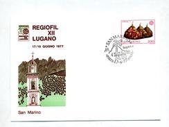 Lettre Cachet Lugano Suisse Regiofil 1977 Sur Europa - Lettres & Documents