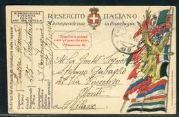 Italie - Carte / Cover De Franchise Militaire Pour Milano En 1918  Réf J8 - Italien