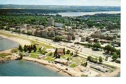 TRAVERSE CITY, Michigan, USA, BEV Of Town & Lakes, Old Chrome Postcard - Etats-Unis