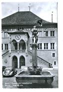 Bern, Rathaus Und Vennerbrunnen, Oldtimer VW-Käfer - BE Bern
