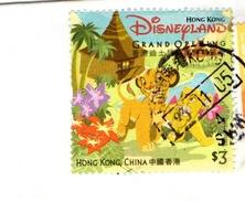 HONG KONG GRAND OPENING DISNEYLAND - F602 - 1997-... Regione Amministrativa Speciale Della Cina