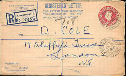 1950 GREAT BRITAIN REGISTERED LETTER LOCAL RATE - Storia Postale