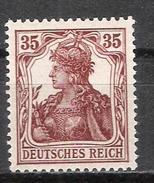 """Reich Variété Du N° 102 Neuf ** Michel 103a Signalé """"a"""" Au Dos - Allemagne"""