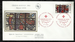 CROIX ROUGE FRANCAISE . 05 DECEMBRE 1981 . AUDINCOURT . ARGENTAN . - FDC