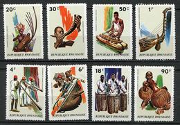 (cl 23 B) Rwanda ** N° 519 à 526 - Instruments De Musique - - Rwanda