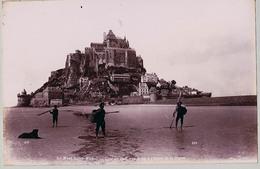 LE MONT SAINT MICHEL ET BEAUVAIS  TIRAGE UNIQUE DE 1890 ARGENTIQUE  FORMA 19,5 X 12 CM ND - Photos