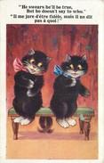 CHAT - CAT -  CHATS HUMANISES - ** COUPLE FIDELITE ** - CPA ILLUSTREE - édit; BARNES - COMIQUE - N° 4621. - Chats