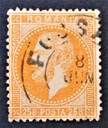 PRINCE CHARLES 1872 - OBLITERE  - YT 41 - MI 41 - ORANGE FONCE - 1858-1880 Moldavie & Principauté