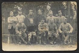 Carte Photo De Soldats à St OUEN 1915 - War 1914-18