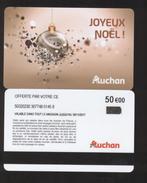 GIFT CARD - Carte Cadeau Auchan - JOYEUX NOEL - 50 € - Cartes Cadeaux
