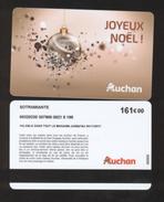 GIFT CARD - Carte Cadeau Auchan - JOYEUX NOEL - 161 € - SOTRAMIANTE - Cartes Cadeaux