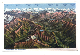 Vogelschaukarte Der Gotthardbahn, Alta Leventina E Val Lavizzara - Autres