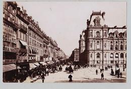 PARIS  LA SEINE ET UN VAPEUR RUE RIVOLI SUPERBE DE FINESSE  TIRAGE UNIQUE DE 1890 ARGENTIQUE  FORMA 19,5 X 12 CM ND - Photos