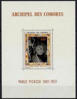 Comoro Islands, Comores, 1973, Picasso, Painter, MNH, Michel Block 1