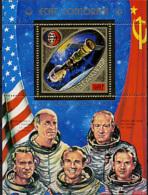 Comoro Islands, Comores, 1975, Apollo, Soyuz, Space, MNH, Michel Block 10A - Isla Comoro (1950-1975)
