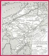 Doubs Carte Recto Et Douche Verso Larousse 1948 - Cartes