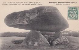 20V - 56 - Locmariaquer - Morbihan - Dolmen Des Marchands - 2e Vue - Visiteur Donnant L'échelle - N° 902 - Locmariaquer