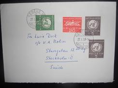 Suisse Service , Lettre De Geneve Nations Unis 1959 Pour Suede - Servizio