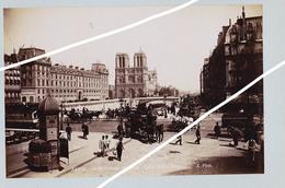 PARIS  PONT SAINT MICHEL ET LE PONT AU CHANGE SUPERBE DE FINESSE   TIRAGE UNIQUE DE 1890 ARGENTIQUE  FORMA 19,5 X 12 CM - Photos