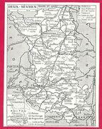 Deux-Sèvres Carte Larousse 1948 - Mappe