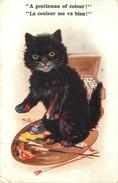 CHAT - CAT -  CHATS HUMANISES - PEINTURE - CPA ILLUSTREE - édit; BARNES - COMIQUE - N° 7612. - Chats