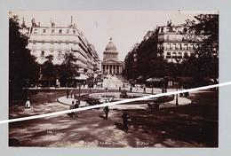 PARIS RUE SOUFFLOT ET BOIS BOULGNE    SUPERBE DE FINESSE   TIRAGE UNIQUE DE 1890 ARGENTIQUE  FORMA 19,5 X 12 CM - Photos