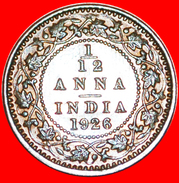 § CALCUTTA: INDIA ★ 1/12 ANNA 1926 MINT LUSTER! LOW START ★ NO RESERVE! George V (1911-1936) - India