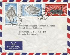 Benin Dahomey 1975 Cotonou RP Drepane Africana African Sicklefish Loc Train Railways Cover - Benin – Dahomey (1960-...)