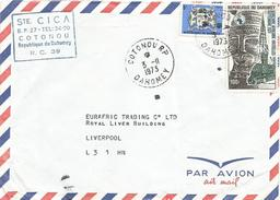 Benin Dahomey 1973 Cotonou RP Mask Hotel De Ville Brussels Armory Cover - Benin – Dahomey (1960-...)