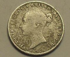 1860 - Grande Bretagne - Great Britain - SIX PENCE, VICTORIA, Argent, Silver, KM 733.1 - 1816-1901: 19. Jh.