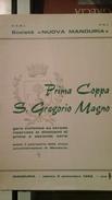 Programma Della Prima Coppa S. Gregorio Magno - Manduria 1966 - Ciclismo