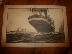 Années 1900 Etc ---> Les GRANDES BATAILLES NAVALES (Entre Le GOEBEN & La PHRYGIE Marseille),  Dessin Albert Sébille - Barcos