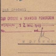 Carte Szubin Drawsko Drawsku Pologne Poland 1949 Zaklad Wychowawczy - 1944-.... Republik