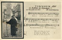 CPA - TURCKHEIM - (ALSACE - ELSASS) - LE VEILLEUR DE NUIT - Turckheim