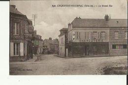 Criquetot-l'Esneval  76    La Grande-Rue  Animée_Attelage_Epicerie Garage Et Charcuterie - Criquetot L'Esneval