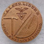 """RARA SPILLA 4,1  CENTIMETRI SCUOLA NAZIONALE SCI ALPINISMO C.A.I. SEZ. LIGURE  """" Inc. LA MEDAGLIA GENOVA"""" - Army"""