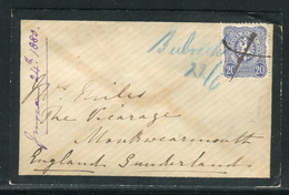 Allemagne - Cover / Enveloppe Pour La Grande Bretagne En 1880 , Timbre Annulé Plume  Réf J66 - Germania