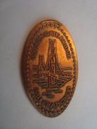 [ Pièce écrasée ] Copper Elongated Penny (cents) GOLDEN GATE BRIDGE - Elongated Coins