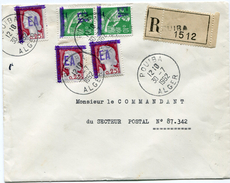 ALGERIE LETTRE RECOMMANDEE DEPART ROUIBA 30-7-1962 ALGER - Algeria (1924-1962)