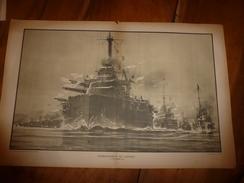 1914 ---> La GUERRE NAVALE (bombardement De CATTARO ),  Dessin Albert Sébille - Bateaux