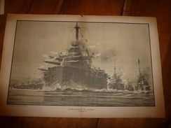 1914 ---> La GUERRE NAVALE (bombardement De CATTARO ),  Dessin Albert Sébille - Barcos